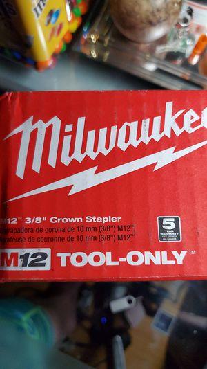 "Milwaukee M12 3/8"" Crown Stapler for Sale in Sacramento, CA"