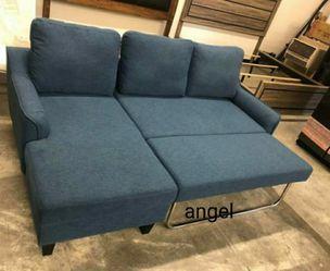 🎁BRAND NEW 🎇Jarreau Blue Sofa Chaise Sleeper for Sale in Laurel,  MD
