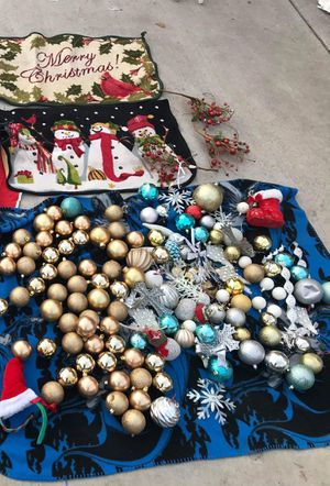 christmas decorations ornaments offer up for Sale in Gardena, CA