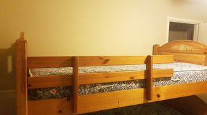 Twin bed frame with Sealy posturepedic mattress and base for Sale in Stockton, CA