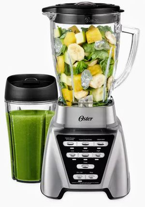 New Oster Pro 1200 Blender Brushed Nickel, comes w/ 2 smoothie cups for Sale in Hesperia, CA