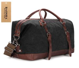 Brand new Canvas PU Leather Travel Tote Duffel Bag.(black) for Sale in Nashville, TN