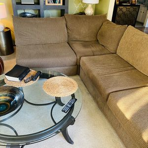 Deep Sofa No Blemishes Olive Stupid Comfy for Sale in Stanford, CA