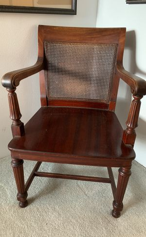 Mahogany antique Cain chairs for Sale in Seattle, WA