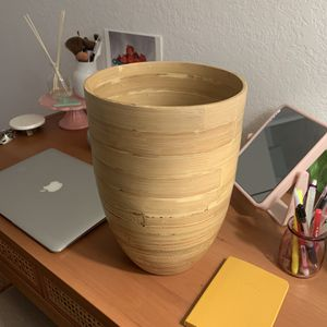Bamboo Wastebasket Trashcan for Sale in Duarte, CA