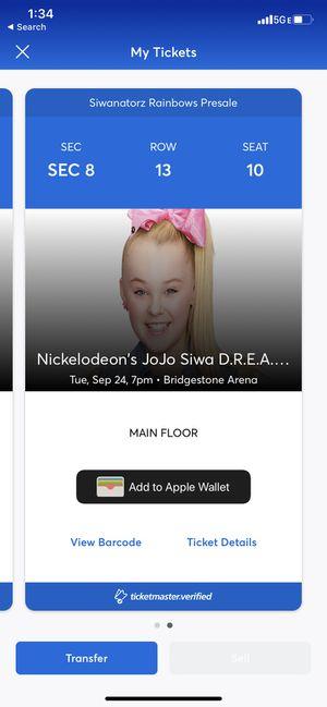 Jojo Siwa Tickets for Sale in Nashville, TN