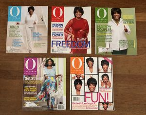 2002 Oprah Magazines: January, February, March, April, May for Sale in Long Beach, CA