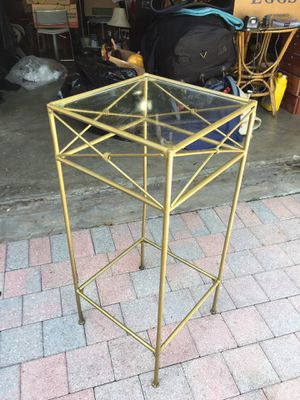 Iron cast rack for $20 with glass top 35 inches tall for Sale in Hollywood, FL