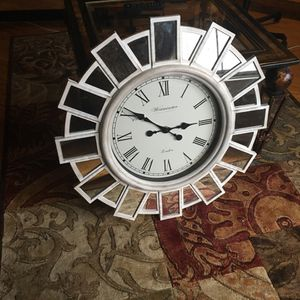 Wall clock never used. Has mirror panes. for Sale in Aspen Hill, MD