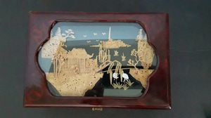 Asian carved wood cork jewelry box for Sale in Irvine, CA