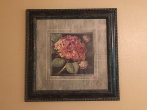 Two beautifully framed floral pictures for Sale in Snohomish, WA