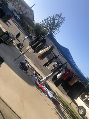 Clothes, stationary bike shoes, jackets for Sale in Riverside, CA