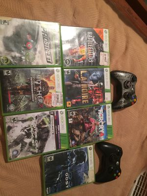 7 Xbox 360 games and 2 Xbox 360 controllers for Sale in Waterbury, CT