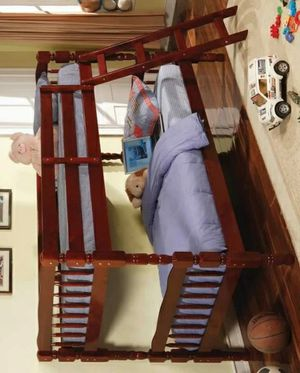 [SPECIAL] Emma Cherry Twin over Twin Bunk Bed for Sale in Houston, TX