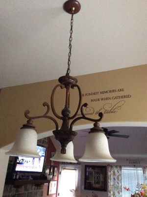 Chandelier from Lowe's ready to go for Sale in Dallas, TX
