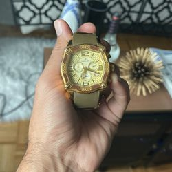 Porsamo Bleu - B Gold Plated Designer Male Watch for Sale in Queens,  NY