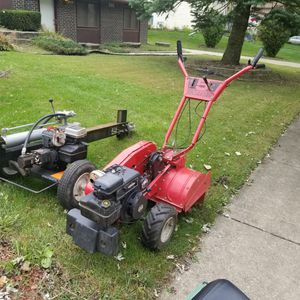 Tiller and wood splitter ( free delivery) for Sale in Bolingbrook, IL