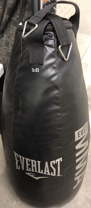 Everlast Black heavy punching bag with stand for Sale in Nashville, TN