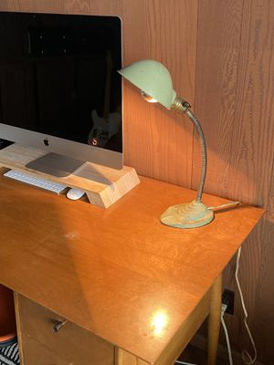 Vintage cast iron gooseneck desk lamp for Sale in Fairview, OR