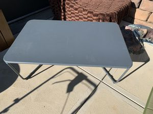 Pick up today metal LARGE heavy duty patio coffee table, gray, for Sale in Monroeville, PA