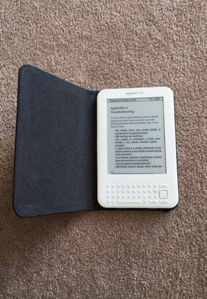 Amazon Kindle with cover for Sale in Manassas, VA