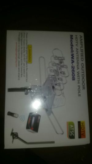 Anplifed outdoor hdtv antenna with pole model wa 2608 for Sale in Portland, OR
