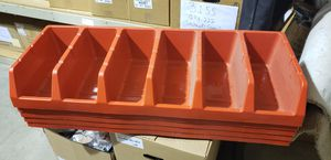"""A total of 5 stacking bins with 6 compartments in each. Each compartment is 4"""" wide 5"""" tall and 10"""" deep. for Sale in Buckley, WA"""