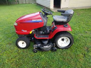 Craftsman GT5000 Riding Mower with wagon and digger for Sale in Nashville, TN