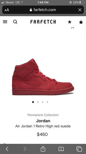 Jordan Retro 1 (size 10.5) suede red for Sale in Franklin, WI