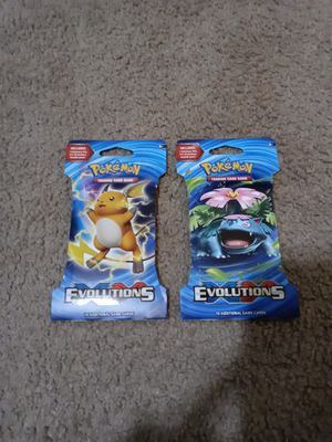 2 pokemon TCG: XY- Evolutions booster pack! for Sale in Baltimore, MD