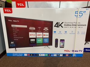 TCL 55inch 4K Roku Smart TV $39 down no credit needed for Sale in Arlington, TX