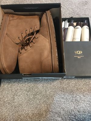 New Men's 12 Harkley Sheepskin UGGs with Cleaning Kit for Sale in Denver, CO