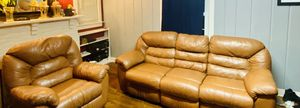 Very good leather recliners with massager and rocker for Sale in Manassas, VA