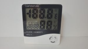 1/10 HTC-1 Thermometer Indoor Digital LCD Hygrometer Temp Humidity Meter Alarm Clock for Sale in El Mirage, CA