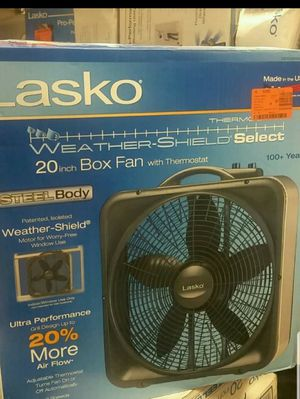 Weather-Shield Select 20 in 3-Speed Box Fan with Thermostat for Sale in North Las Vegas, NV