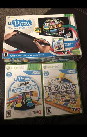 Xbox 360 games & u draw game tablet for Sale in Durham, NC