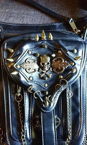 Genuine black leather biker leg purse / backpack multi function for Sale in Las Vegas, NV
