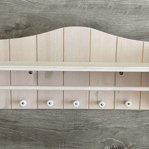 Farmhouse style wood rack / shelf / key holder for Sale in Los Angeles, CA