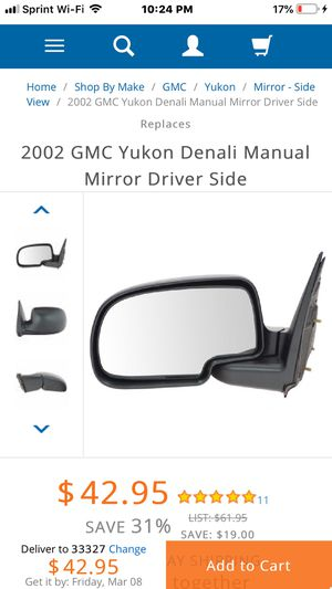 Drivers side Mirror for Sale in Fort Lauderdale, FL