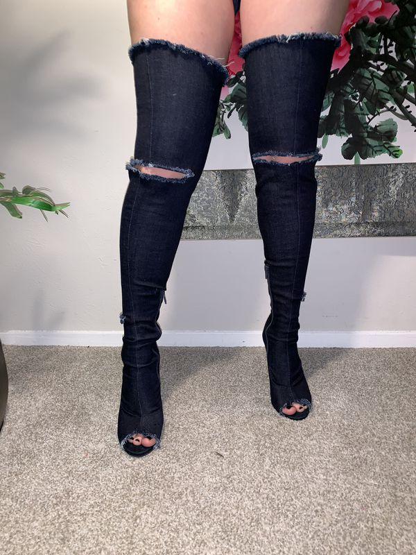 Thigh high boots!