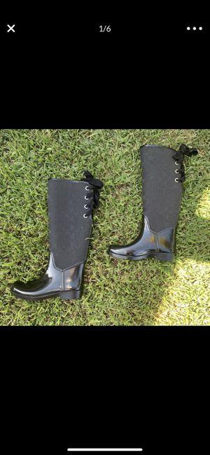 Coach rain boots size 6 for Sale in Santa Ana, CA