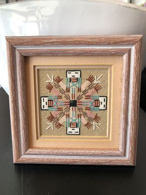Collectible Authentic Vavajo Sand Painting, American Folk Art for Sale in Feasterville-Trevose, PA