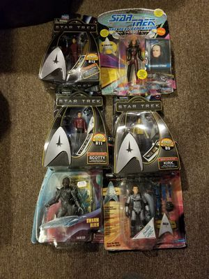 Star trek action figures. for Sale in Seattle, WA