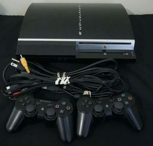 Sony PS3 Playstation 3 40GB Console - CECHH01 W/ 2 Controllers - Working for Sale in Woodinville, WA