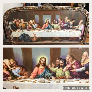 1920's Chromolithograph of the LAST SUPPER in its beautiful original frame - LOCAL PICKUP ONLY for Sale in Pittsburgh, PA