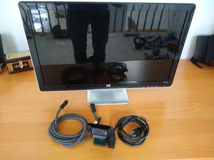 "Hp 25"" HD wide screen 60hz computer monitor + hd Logitech webcam + gold plated hdmi for Sale in Reston, VA"