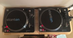 Used, Stanton turntables W/ Serato for Sale for sale  Howell, NJ
