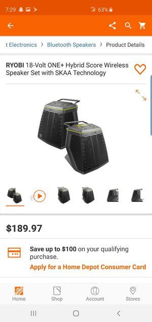 New ryobi one bluetooth speaker bundle for sale! for Sale in Glendale, AZ