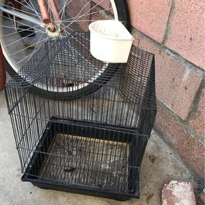 Bird Cage With Water/Food Cup for Sale in Norwalk, CA