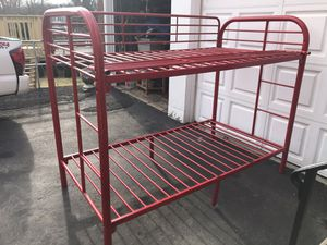 Red solid metal bed 🛌 bunk frame for Sale in Yonkers, NY